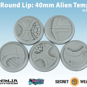 Round Lip 40mm Alien Temple Bases