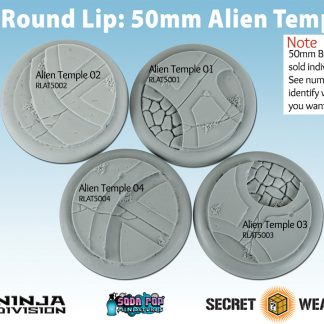 Round Lip 50mm Alien Temple Base