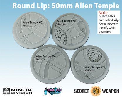 Round Lip 50mm Alien Temple Base