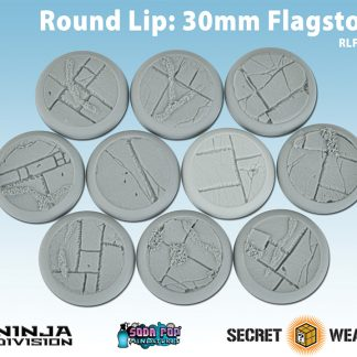 Round Lip 30mm Flagstone Bases