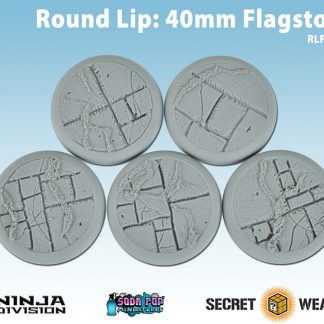 Round Lip 40mm Flagstone Bases