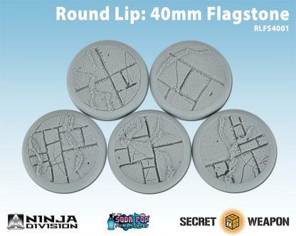 Round Lip 40mm Flagstone Bases