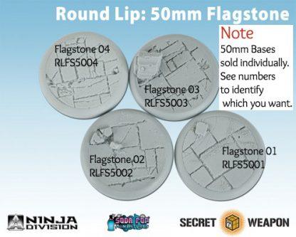 Round Lip 50mm Flagstone Bases
