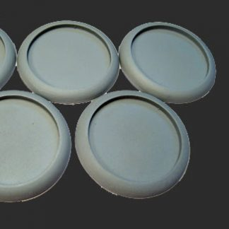 Round Lipped 40mm Hollow Blank Bases (5)