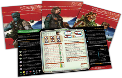 Star Wars: Age of Rebellion Beginner Game Character Folios