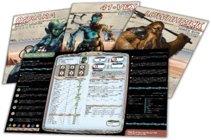 Star Wars: Edge of the Empire Beginner Game Character Folios