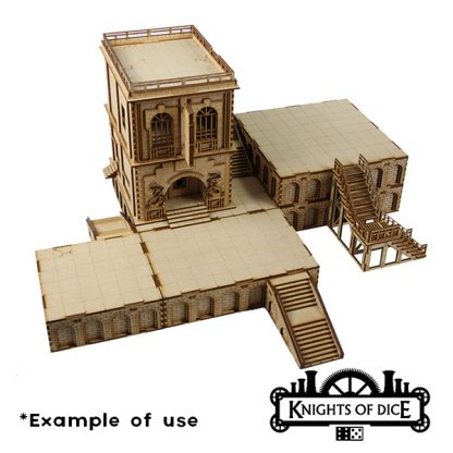 City Foundations example using multiple kits together