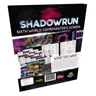 Shadowrun Sixth World Gamemaster's Screen
