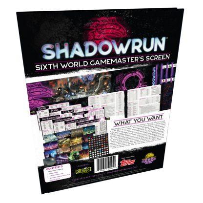 Shadowrun Sixth World Gamemaster's Screen
