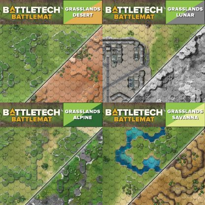 BattleTech Battle Mat Grasslands Collection