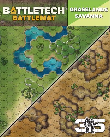 BattleTech Savanna / Grasslands Battlemat