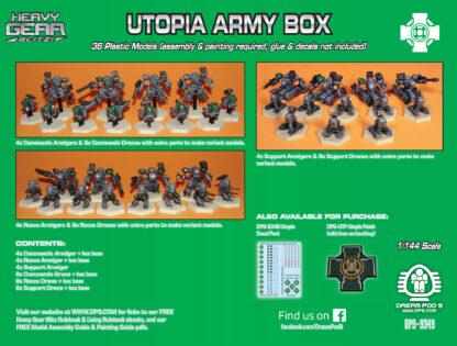 Utopia Army Box back | Heavy Gear Blitz!