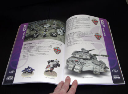 Heavy Gear Blitz 3rd Edition Rules – CEF Faction page spread