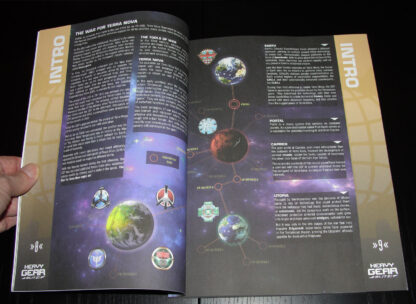 Heavy Gear Blitz 3rd Edition Rules – Intro page spread