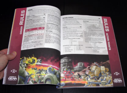 Heavy Gear Blitz 3rd Edition Rules – Rules page spread