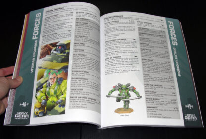 Heavy Gear Blitz 3rd Edition Rules – Upgrades page spread